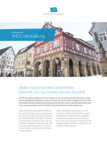 WEG Verwaltung Flyer