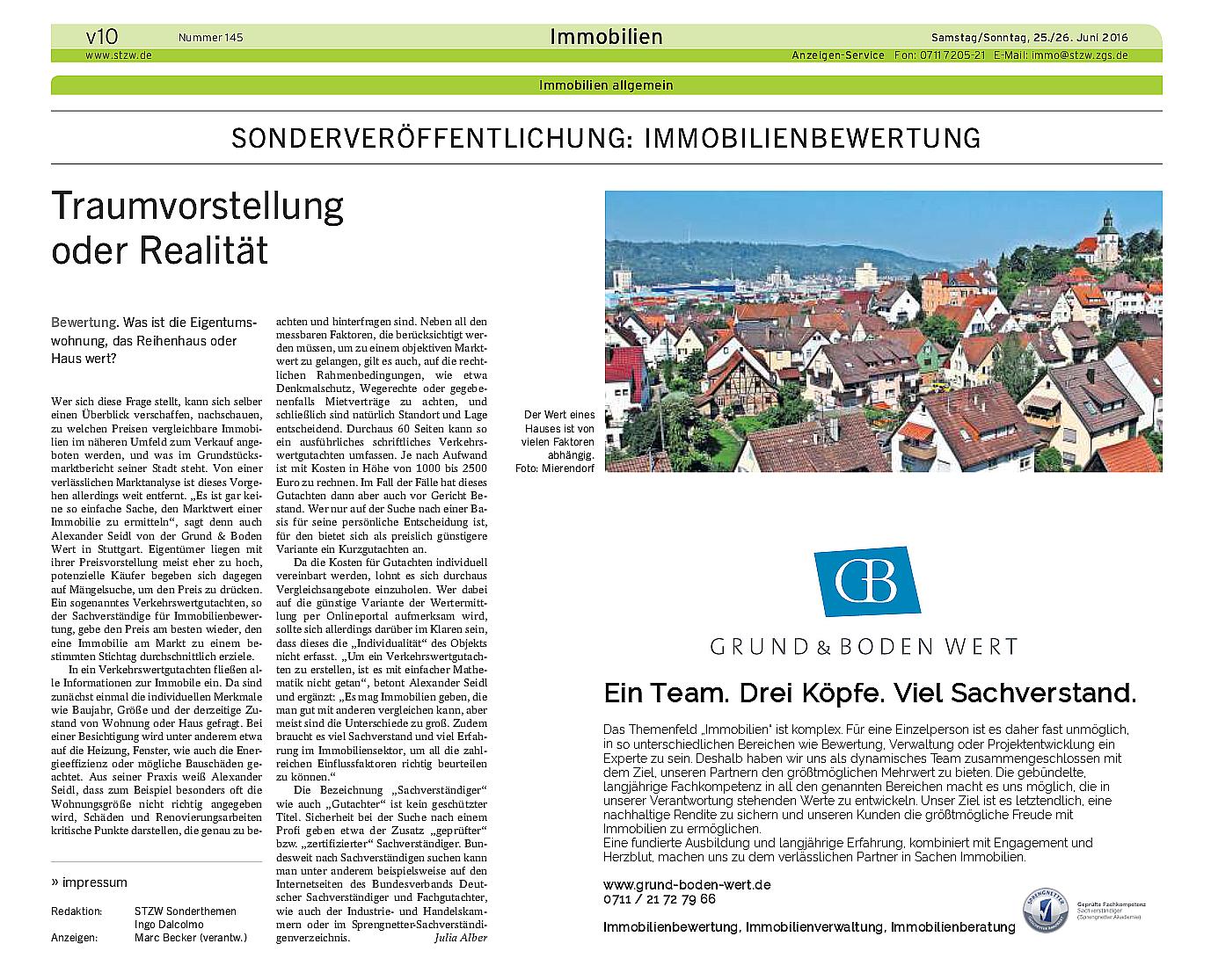 Sachverständige für Immobilienbewertung in Stuttgart