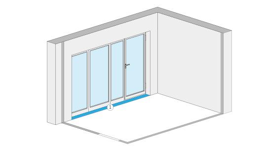 Wohnflächenberechnung - Fensternische und Fenstertürnische (Beispiel 2)