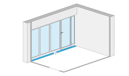 Wohnflächenberechnung - Wohnflächenberechnung - Fensternische und Fenstertürnische (Beispiel 3)